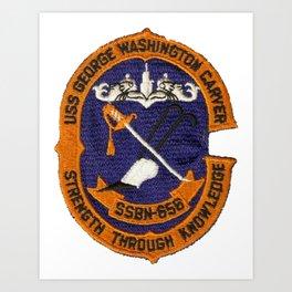 USS GEORGE WASHINGTON CARVER (SSBN-656) PATCH Art Print