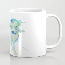 Pittsburgh Neighborhood Map Coffee Mug