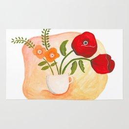 Teacups & Poppies Rug