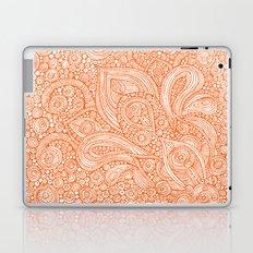 Orange doodles Laptop & iPad Skin