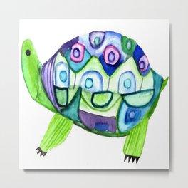 Watercolor turtle Metal Print