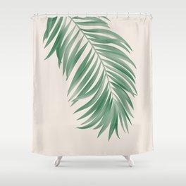 Palm Tropical Green Gardenia Shower Curtain