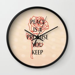Peace is a promise You keep Wall Clock