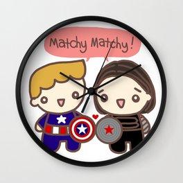 matchy matchy (3) Wall Clock