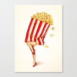Popcorn Girl Canvas Print