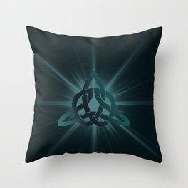 Celtic knot starburst Throw Pillow