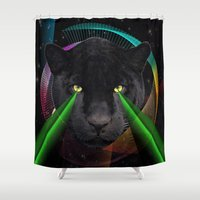 panther Shower Curtains featuring Panther by mark ashkenazi
