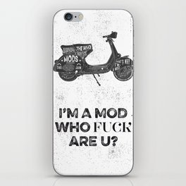 Vespa, mods, calligraphy, graphic iPhone Skin