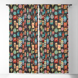 Christmas Ornaments and Presents Pattern Blackout Curtain