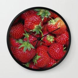 Strawberry Season Wall Clock