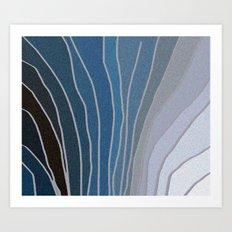 Flowing Blue Shapes Art Print