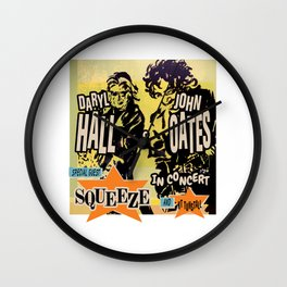 HALL & OATES, SQUEEZE, KT TUNSTALL - TOUR 2020 Wall Clock