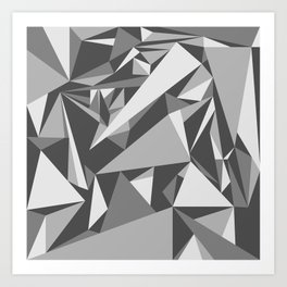 Black and White Triangle Art Print
