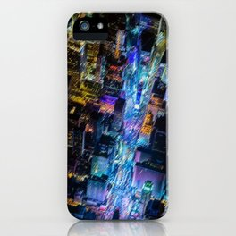 Aerial Times Square - New York City Landscape Painting by Jeanpaul Ferro iPhone Case
