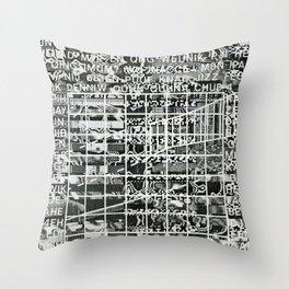 A Symbol of Belonging (P/D3 Glitch Collage Studies) Throw Pillow