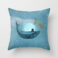 cloud Throw Pillows featuring Cloud Maker  by Terry Fan