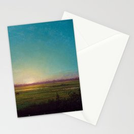 Twilight in the Florida Everglades by Martin Johnson Heade Stationery Cards
