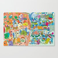 monster inc Canvas Prints featuring Chez Monster by Clayton (CTON) Hanmer