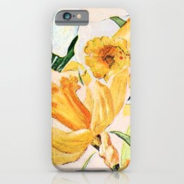 Wordsworth  and the daffodils. iPhone Case