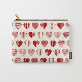 AFE Red Hearts Carry-All Pouch