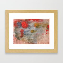 Rosy brown clouded wash painting Framed Art Print