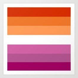 Butch Lesbian Flag Art Print