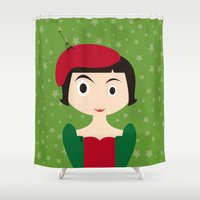 amelie Shower Curtains featuring Amelie by Creo tu mundo