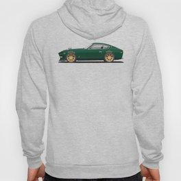 Legendary Classic Green 240z Fairlady Vintage Retro Cool German Car Wall Art and T-Shirts Hoody