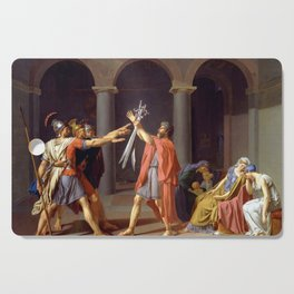 Oath of the Horatii by Jacques-Louis David Cutting Board