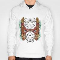 tigers Hoodies featuring Tigers by Ornaart