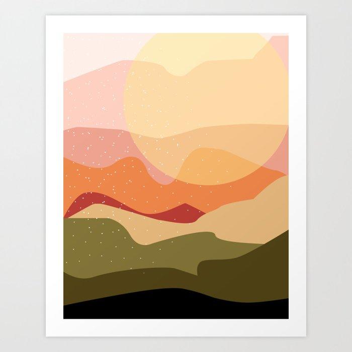 Minimalist Coral Landscape Art Print By Designdannick Society6