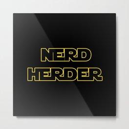 Nerd Herder Metal Print