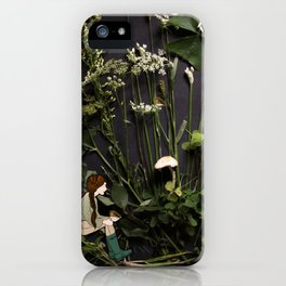 Bridie and the Robins in the Forest of Shamrocks iPhone Case