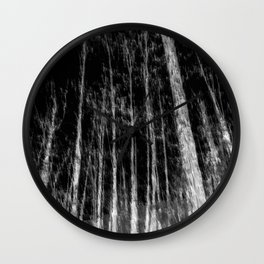 Black and white tree photography - Watercolor series #7 Wall Clock