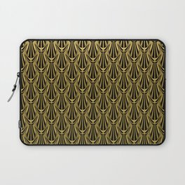 Overlapping Shell Pattern in Gold Laptop Sleeve