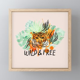Wild and Free Tiger Framed Mini Art Print