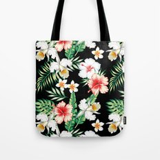 hibiscus orchid pattern Tote Bag
