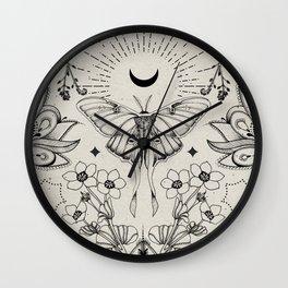 Bohemian Luna Moth Wall Clock