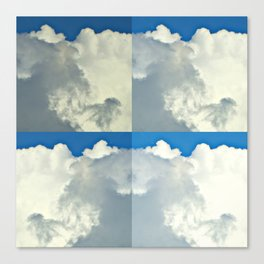 White Bright Clouds Canvas Print