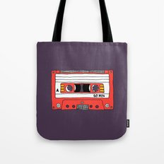 Vintage Mix Tape // Purple and Pink Tote Bag