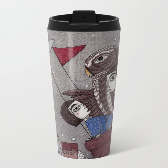 Through the Clouds and Back Again Metal Travel Mug