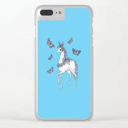 Cute Unicorn Clear iPhone Case