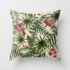 Tropical leave pattern 9.4 Throw Pillow