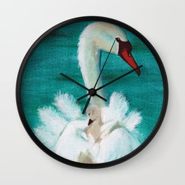 Swan mother Wall Clock