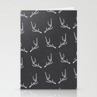 antlers Stationery Cards featuring Antlers  by Nadie van Wijk