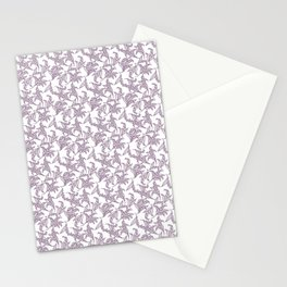Mauve Vintage-Style Lily-of-the-Valley Pattern Stationery Cards