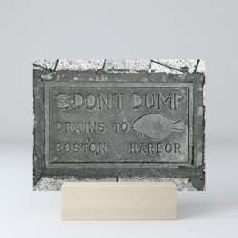 Keep Boston Harbor Clean Mini Art Print