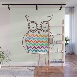 Chevron Owl Wall Mural
