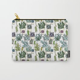 Tiny Cactus Succulents Cacti Carry-All Pouch
