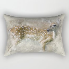 Deer Fawn Rectangular Pillow